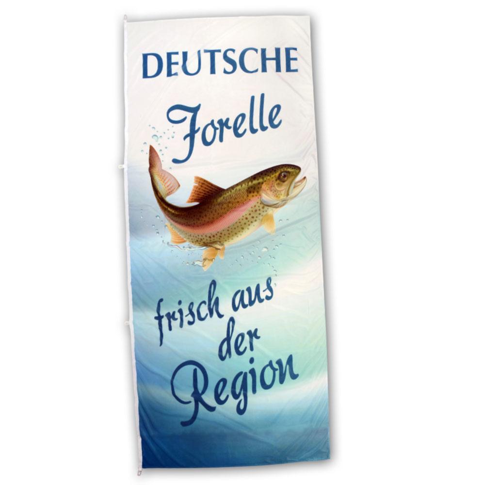 Hissfahne Slogan Deutsche Forelle