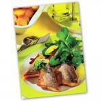 Rezeptkarte Saibling mit Feldsalat